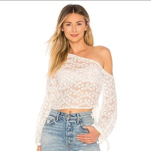 NEW Majorelle REVOLVE Rosalie Embroidered Lace Top